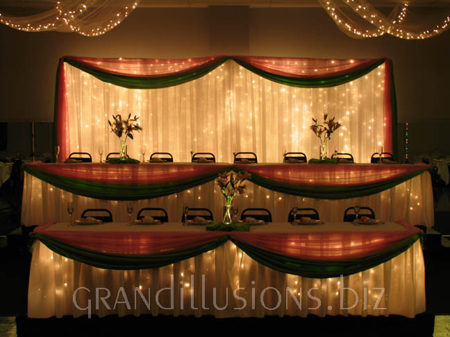 Head Table Wedding Decoration, table decoration
