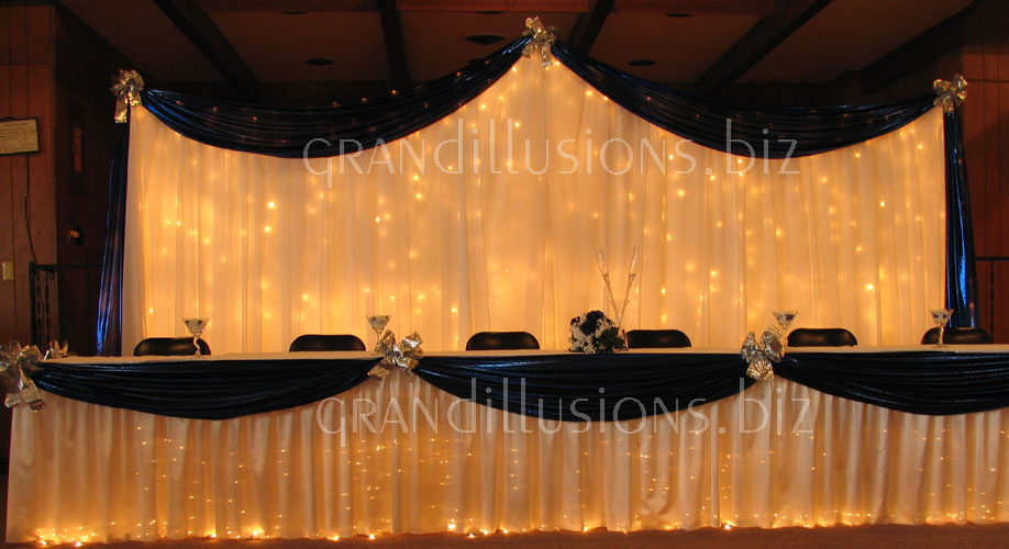 thats the jist of what we 39re going for for our head table then the tables i